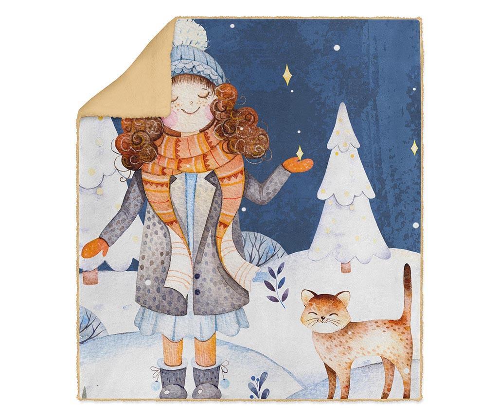 Pled Winter Cat 130x160 cm