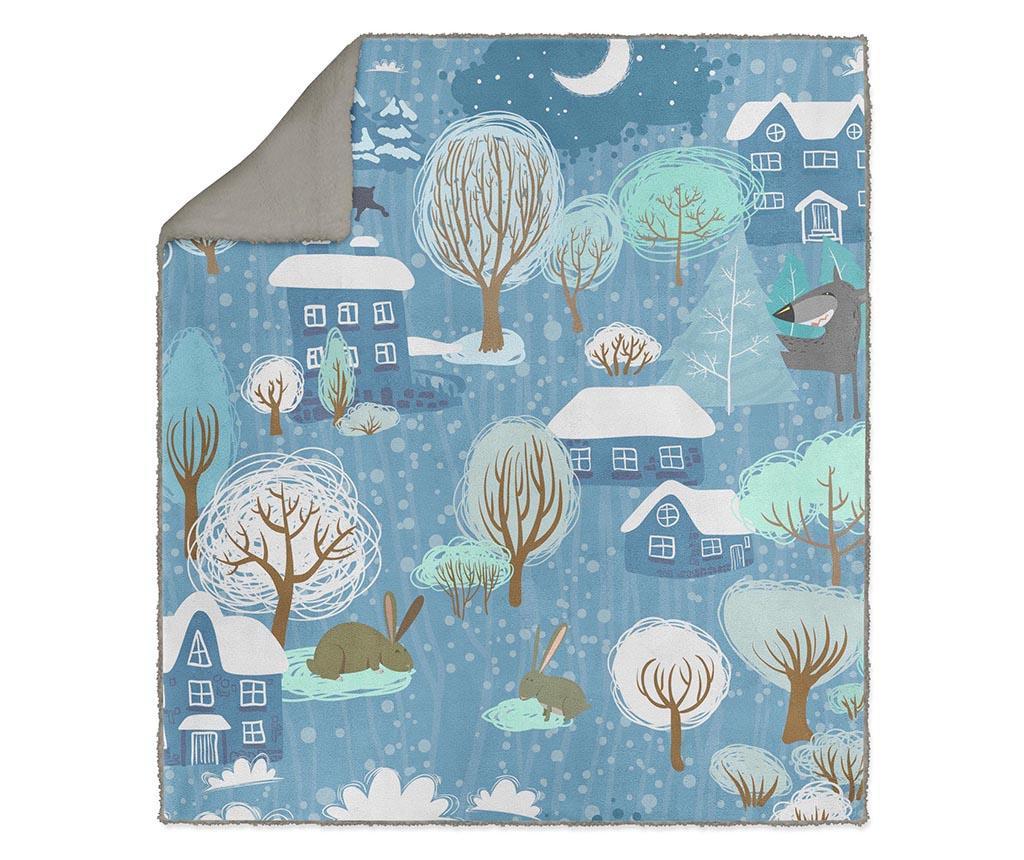 Pokrivač Blue Town 130x160 cm