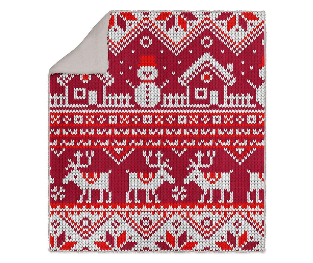 Pokrivač Winter Red 130x160 cm