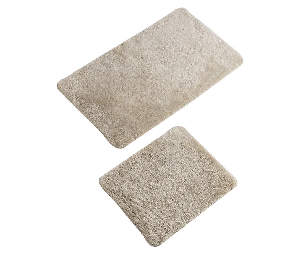 Set 2 kupaonska tepiha Plain Bone