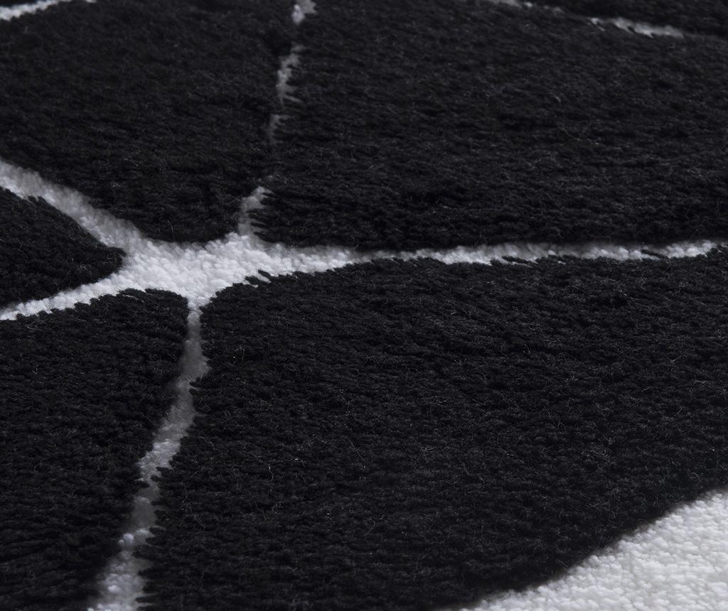 Set 3 covorase de baie Diamond Black White