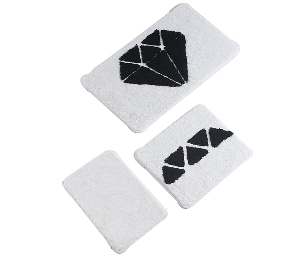 Diamond Black White 3 db Fürdőszobai szőnyeg