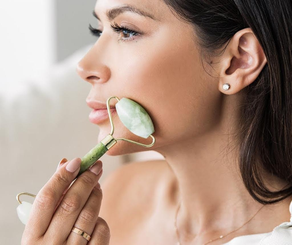 Rola dubla masaj facial Luxurious Jade Crystal