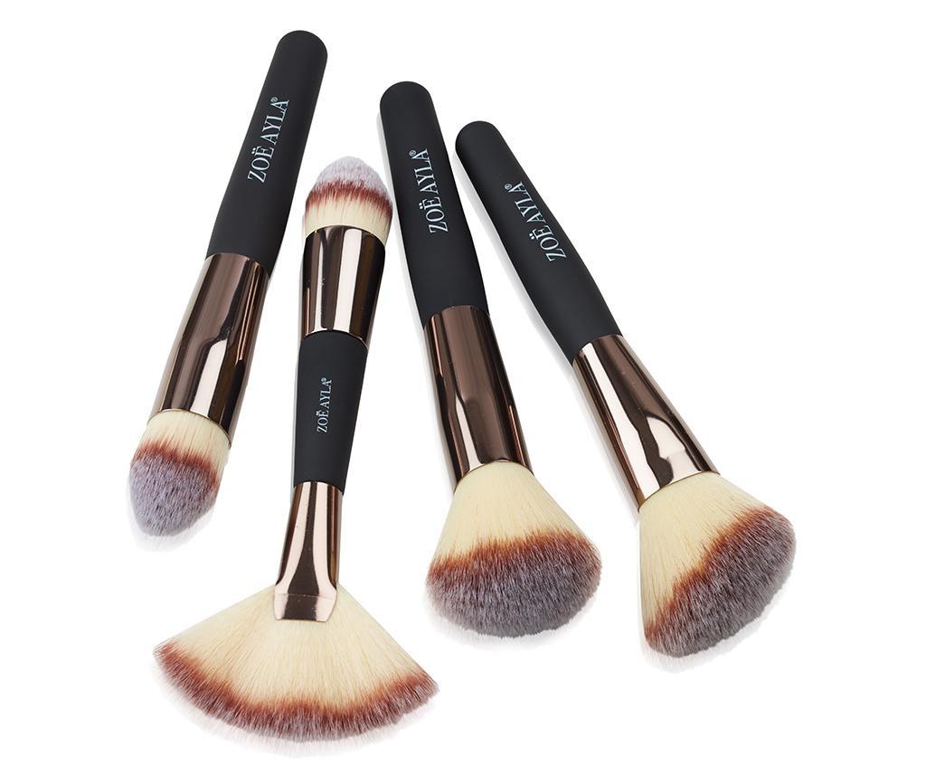 Set 4 čopičev za ličenje Professional Soft Touch Cream