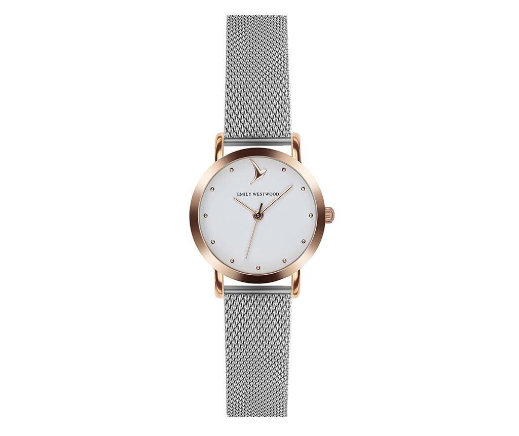 Ceas de mana dama Emily Westwood Simplity Glam Silver