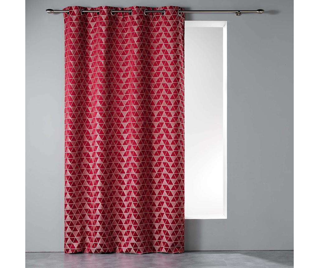 Draperie Isometric Red 140x260 cm