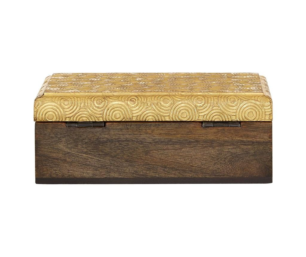 Gold Disc Design Doboz fedővel S