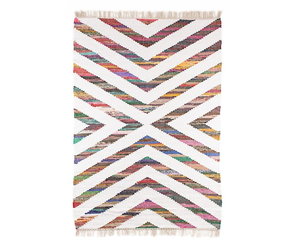 Tepih Boho Chindi Kilim Arrow White 120x180 cm