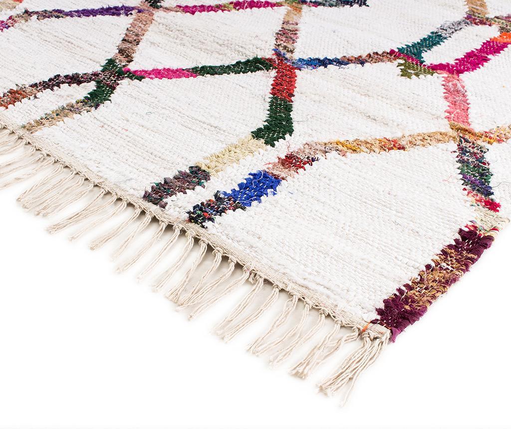 Tepih Boho Chindi Kilim Chain White 120x180 cm