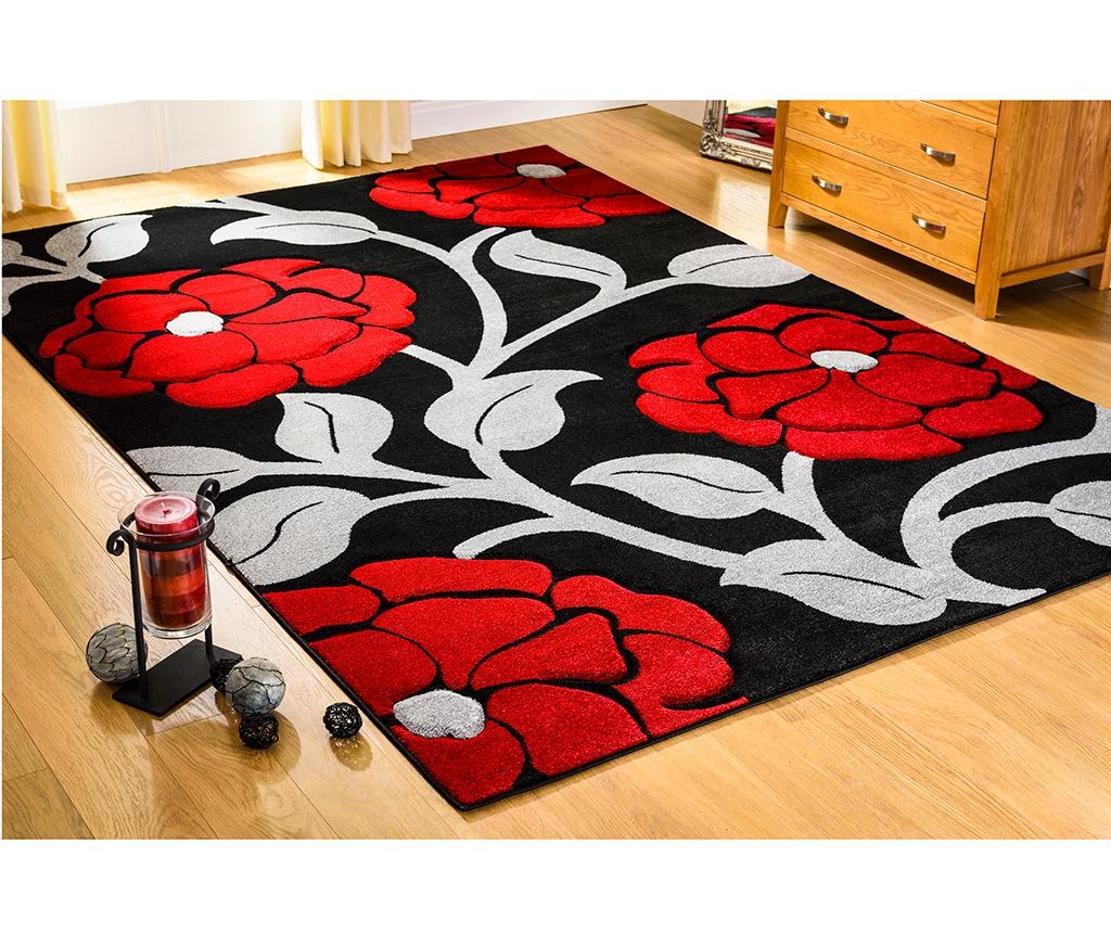 Tepih Vine Black & Red 80x150 cm