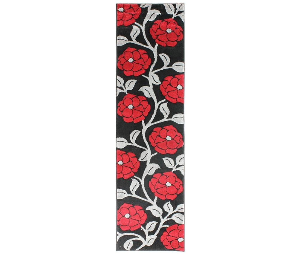 Tepih Vine Black & Red 60x230 cm