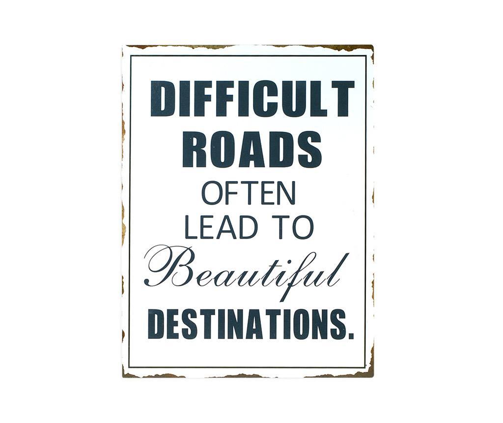 Decoratiune de perete Difficult Roads