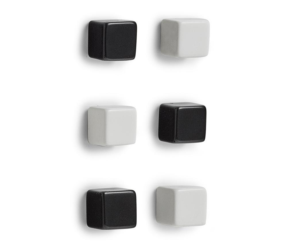 Grey Cubes 6 db Mágnes