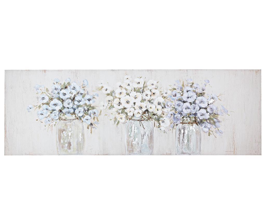 Tablou Jar Flowers 50x150 cm