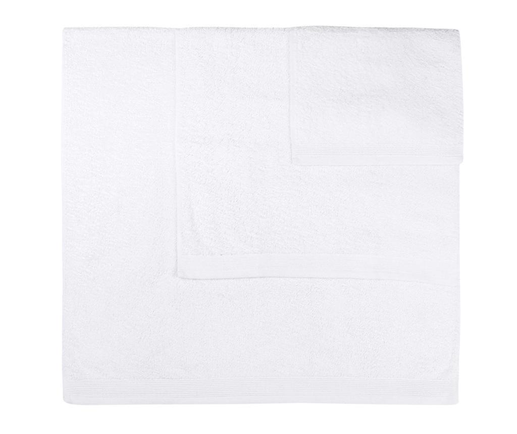 Set 3 kupaonska ručnika Delta White