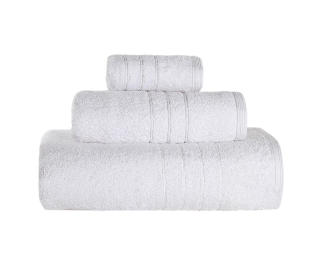 Set 3 kupaonska ručnika Omega White