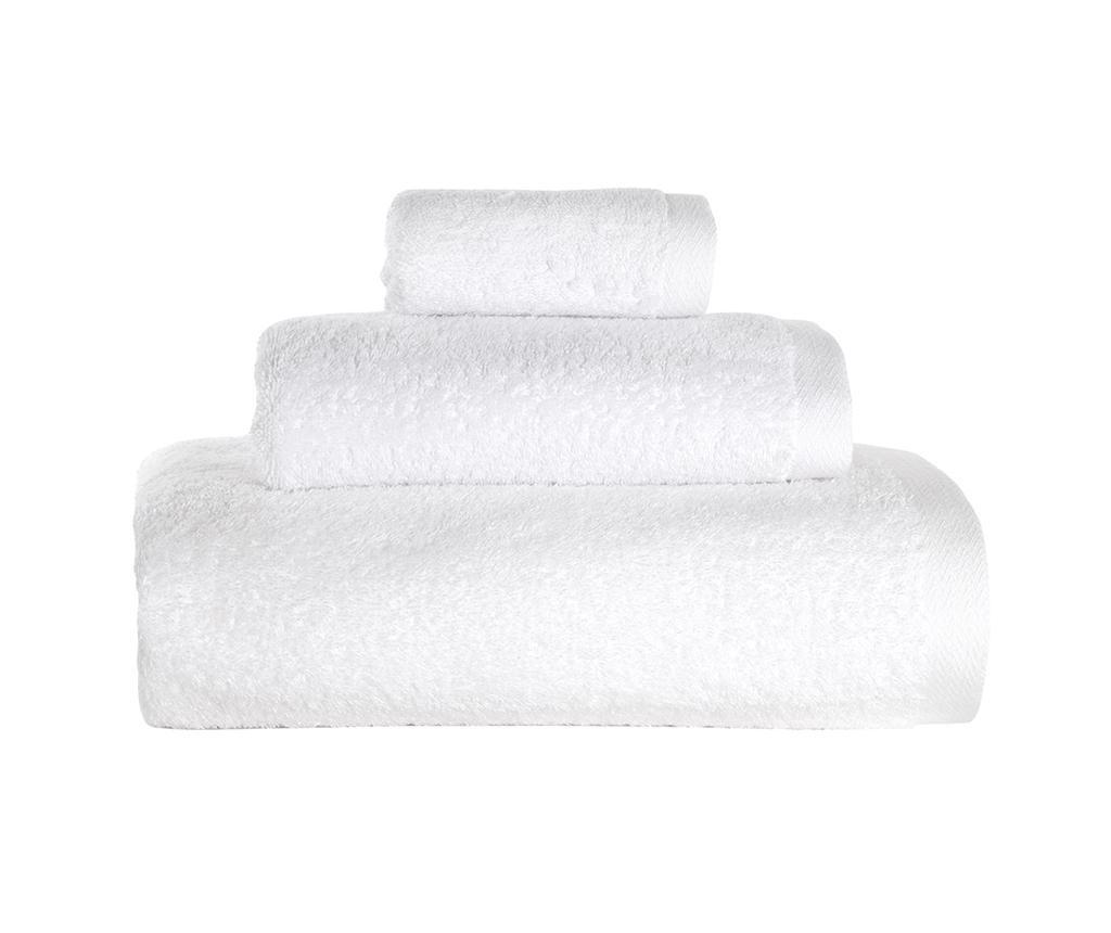 Set 3 kupaonska ručnika Alfa White