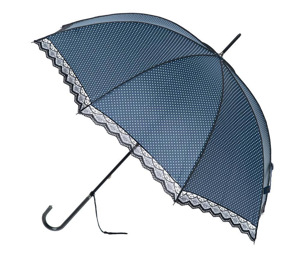 Umbrela Polka Lace Navy Blue