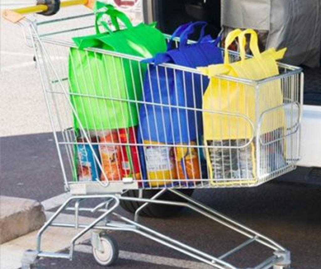 Set 4 nakupovalnih torb Cart Car Car Boot