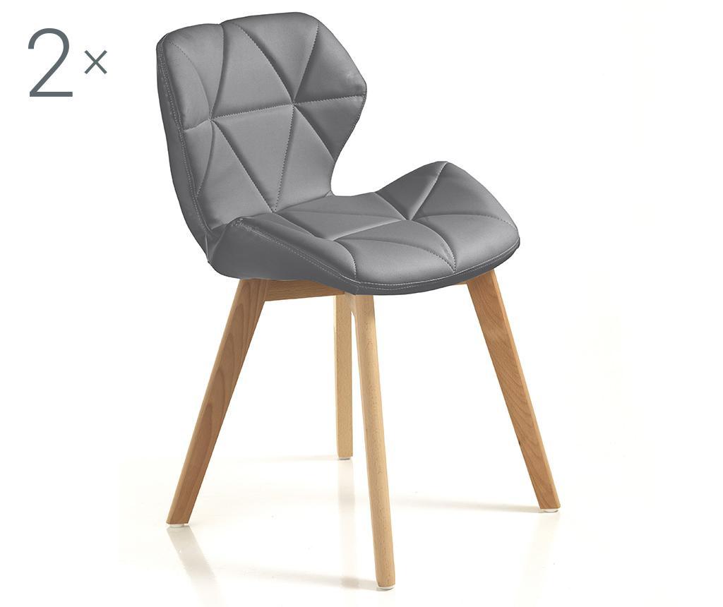 Set 2 scaune New Kemi Grey