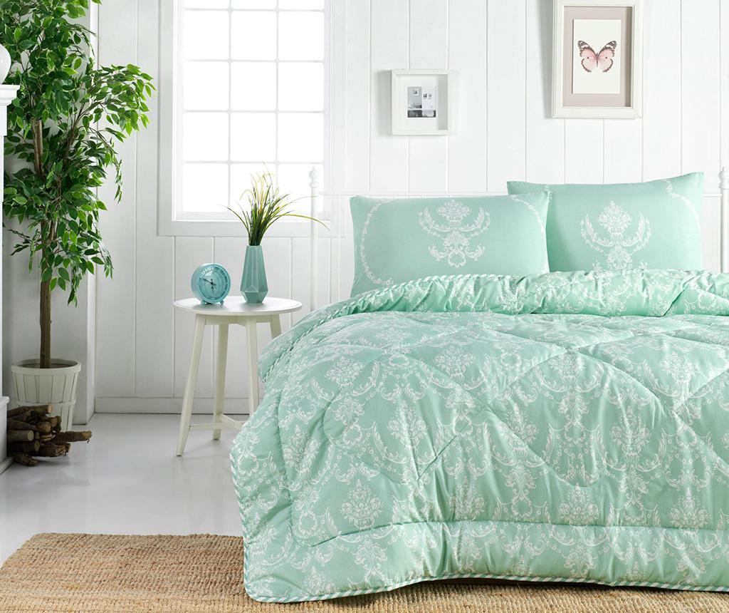 Prešita odeja Pure Water Green 195x215 cm
