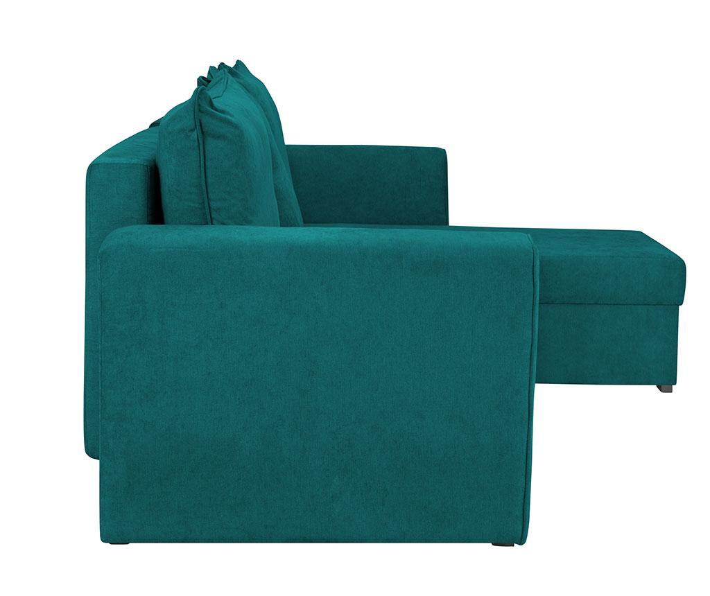 Coltar extensibil reversibil Dover Turquoise