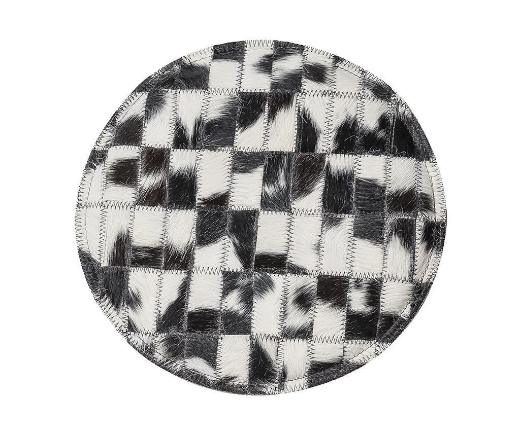 Sedežna blazina Cow Black and White 35 cm