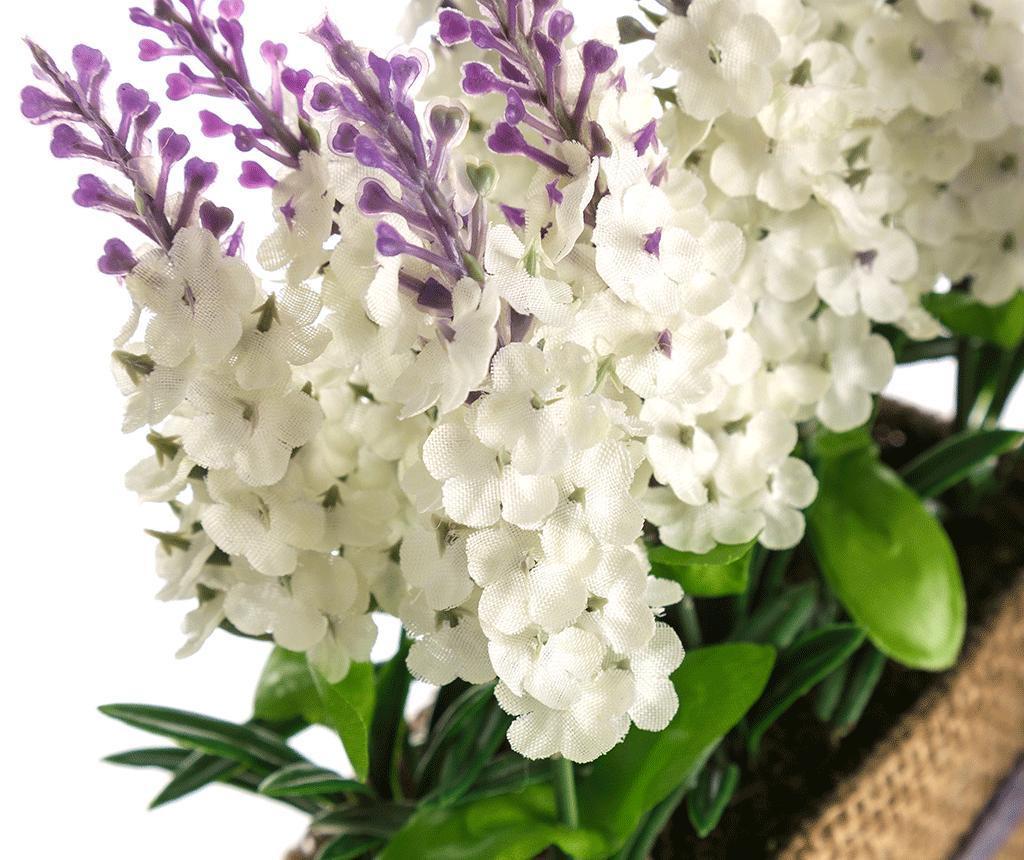 Umjetna biljka u posudi Lavander Flowers White