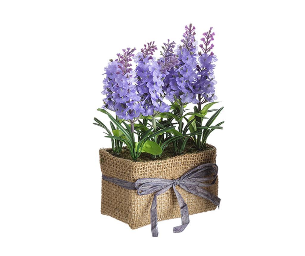 Planta artificiala in ghiveci Lavander Flowers Blue