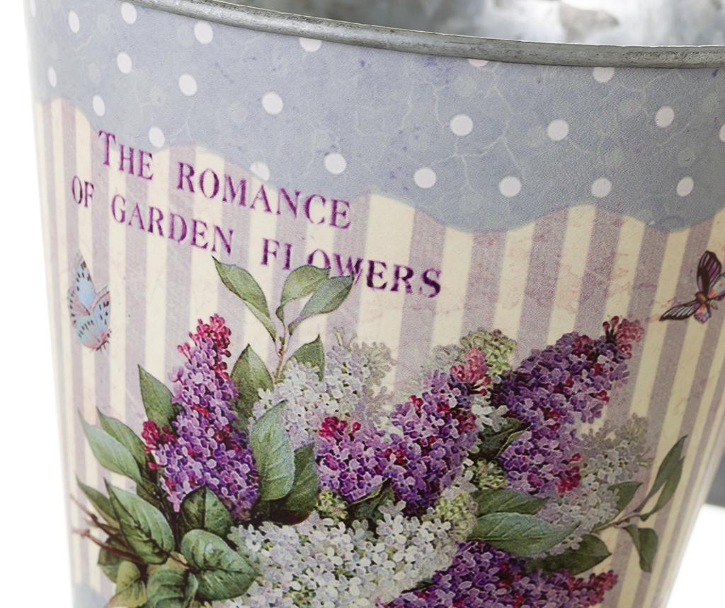 Set 2 cvetličnih lončkov z držalom Romance