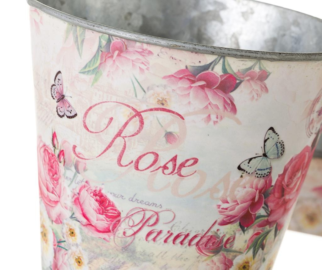 Set 2 cvetličnih lončkov z držalom Rose