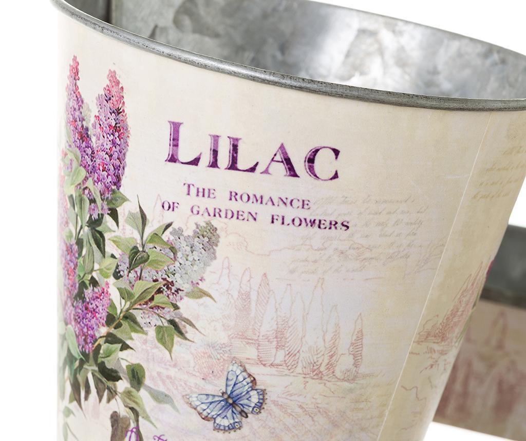 Set 2 cvetličnih lončkov z držalom Lilac