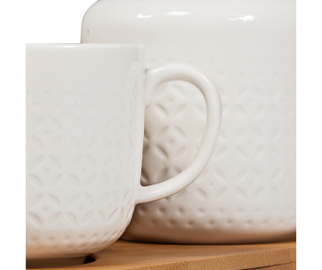 Set 2 šalice i posuda za šećer s poklopcem Serve Tea