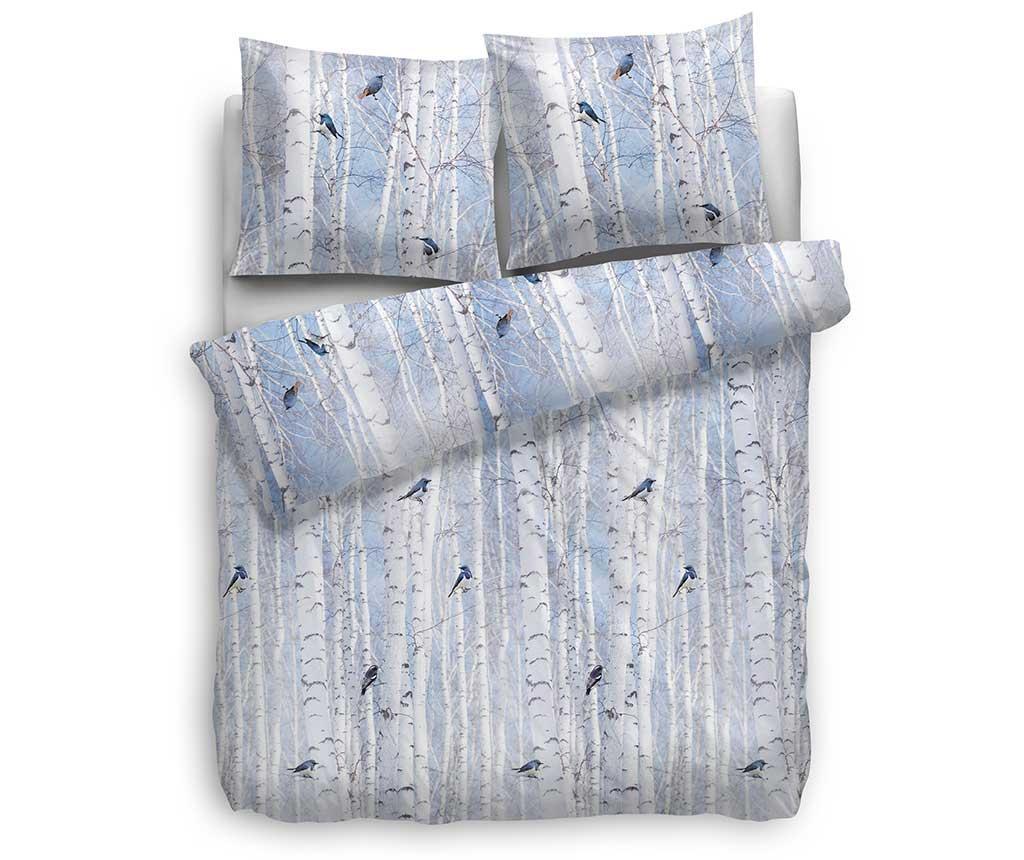 Set de pat Single Flannel Extra Square Esposa Swift Blue
