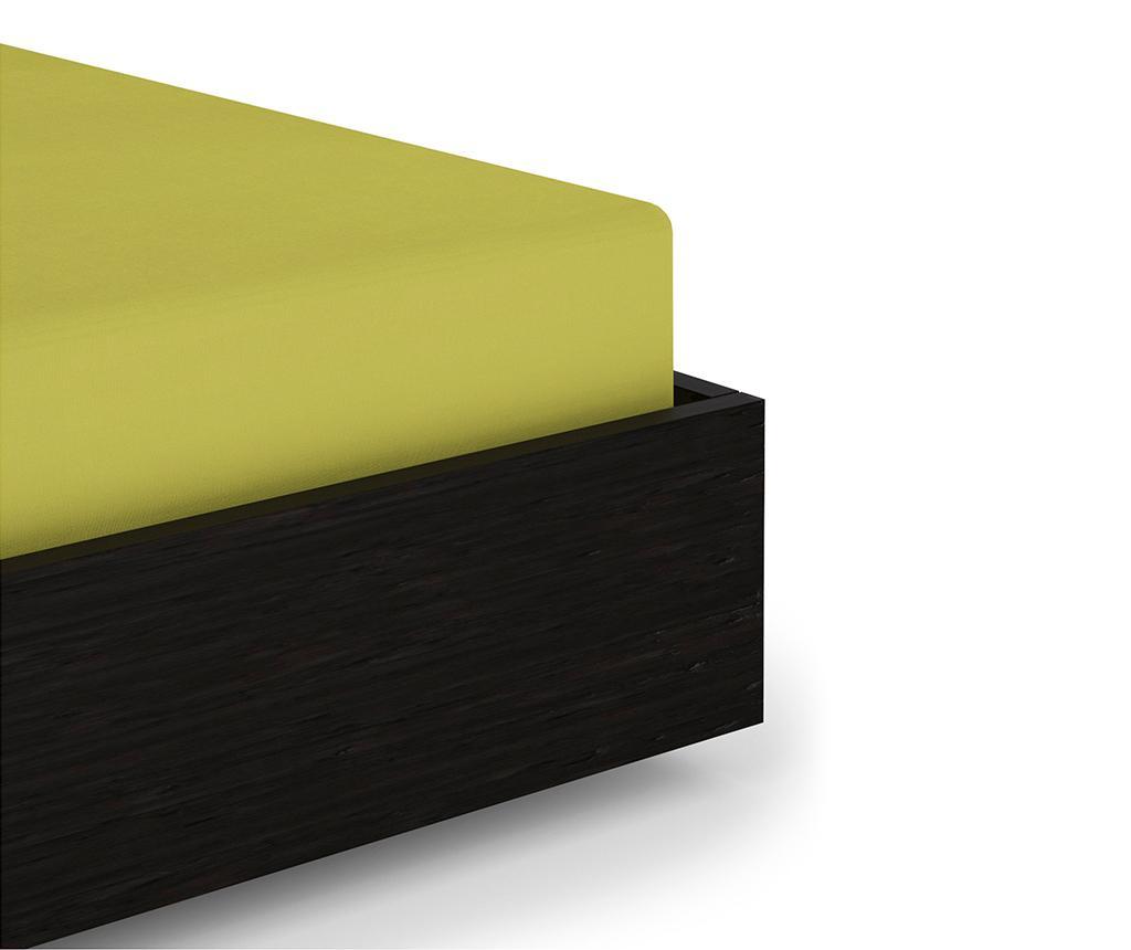 Cearsaf de pat cu elastic Percale Green Oasis 80x200 cm