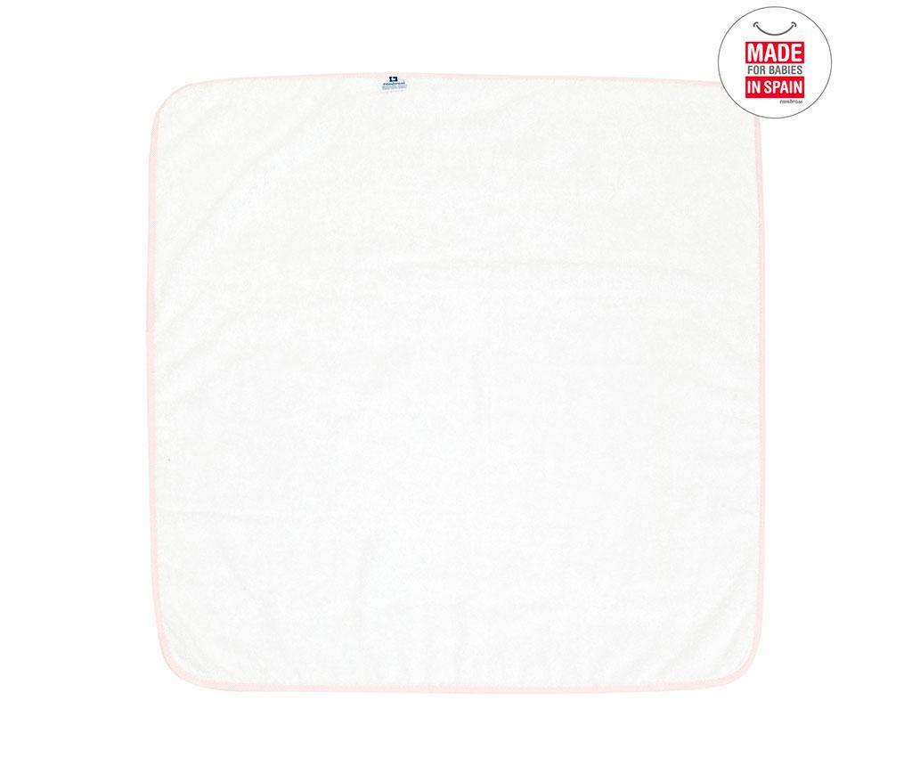 Ručnik za kupanje s kapuljačom Mini Star Pink 80x80 cm