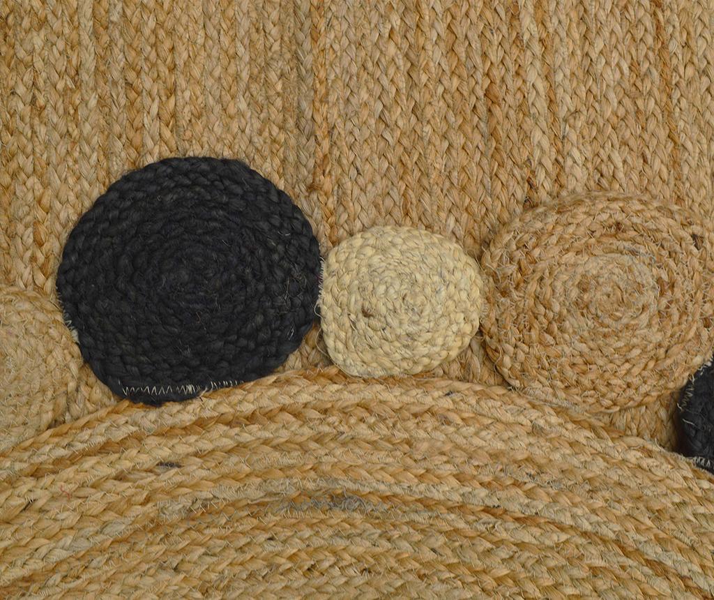 Covor Roberta Oval Natural & Black 120x180 cm