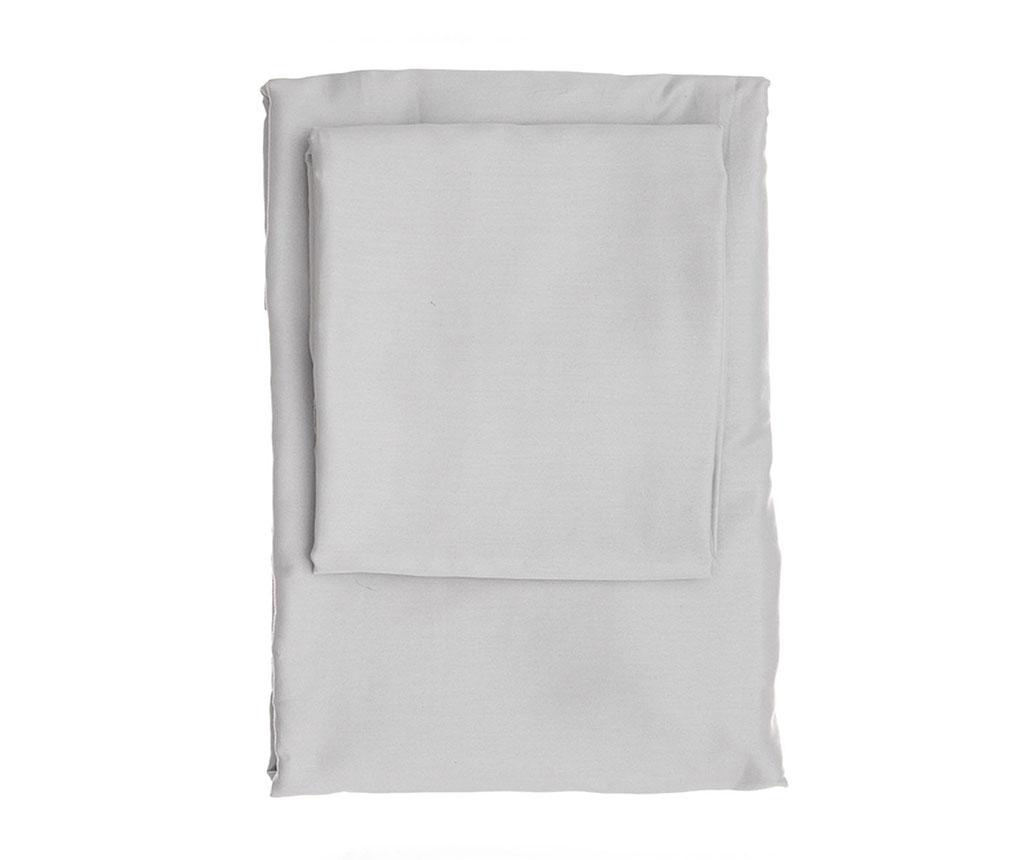 Plahta s elastičnom gumicom Dena Light Grey Satin 180x200 cm