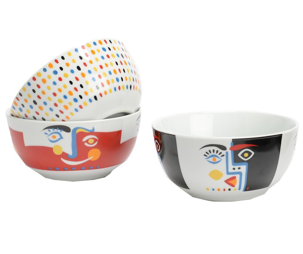 Set 3 zdjele Cubisme