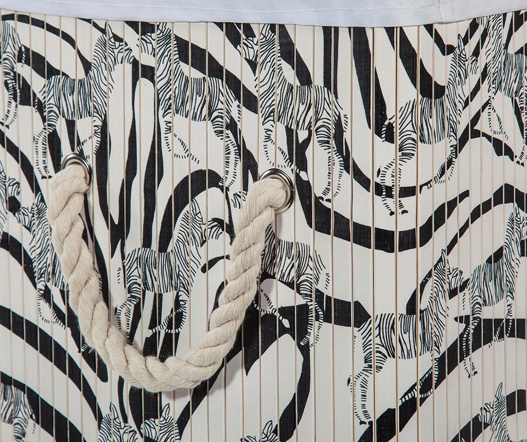 Cos cu capac pentru rufe Zebra Rectangle