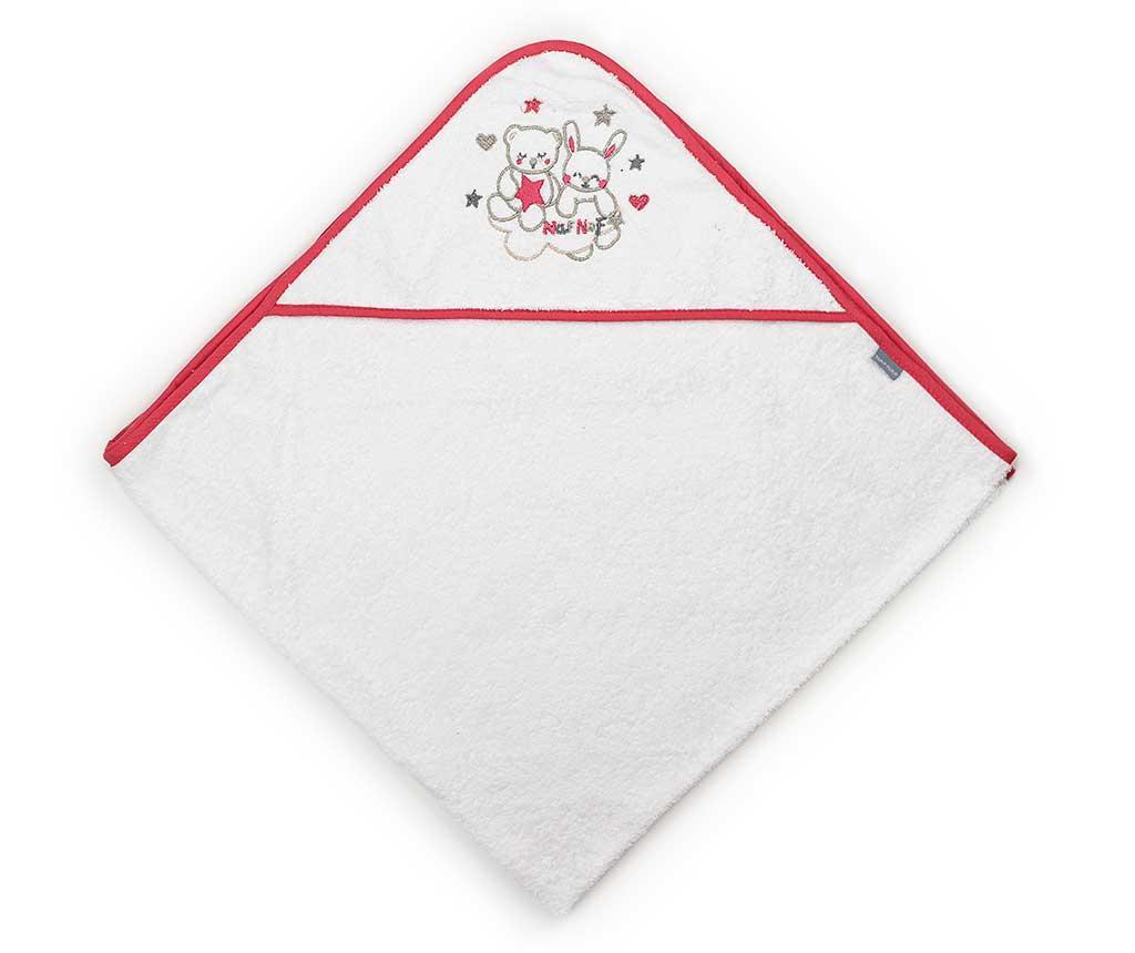 Prosop de baie cu gluga Friends Red Strip 100x100 cm