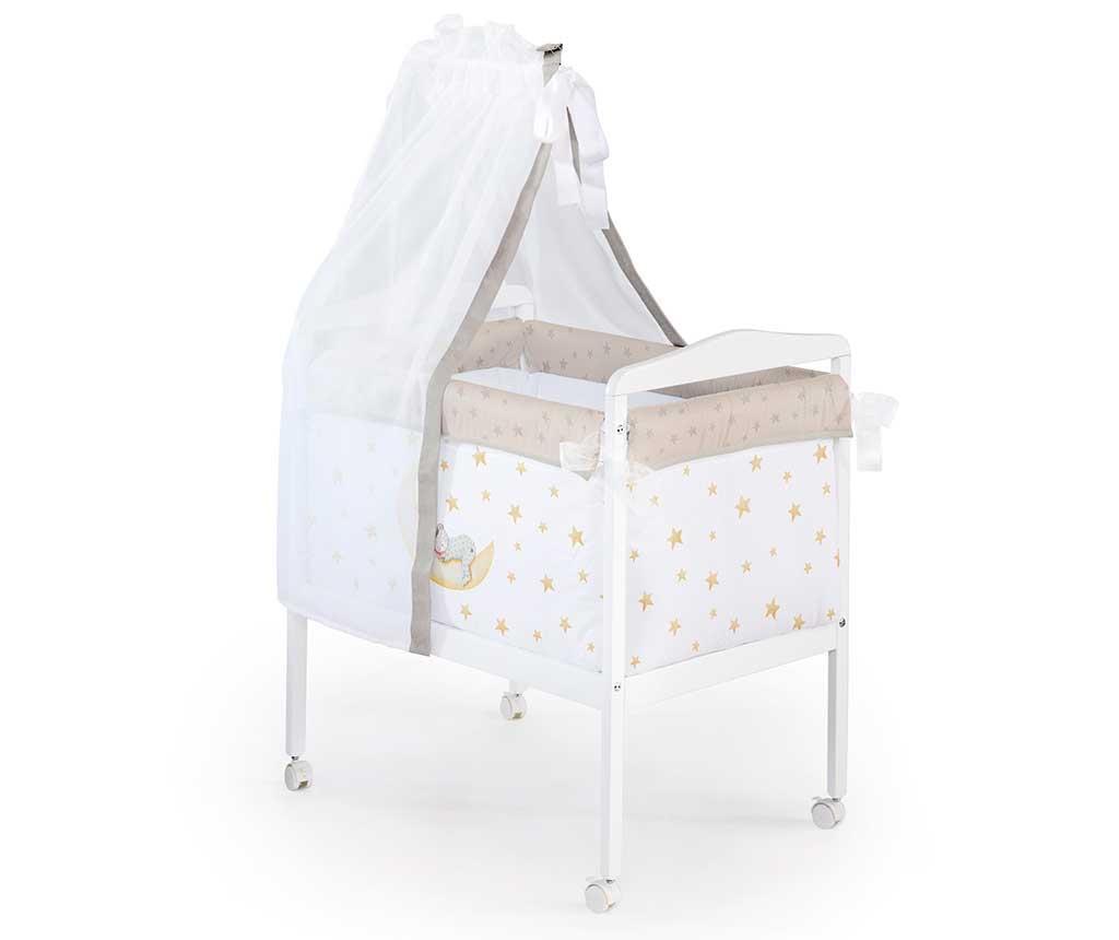 Set krevetić sa baldahinom i dodacima Marlon Night Square Beige