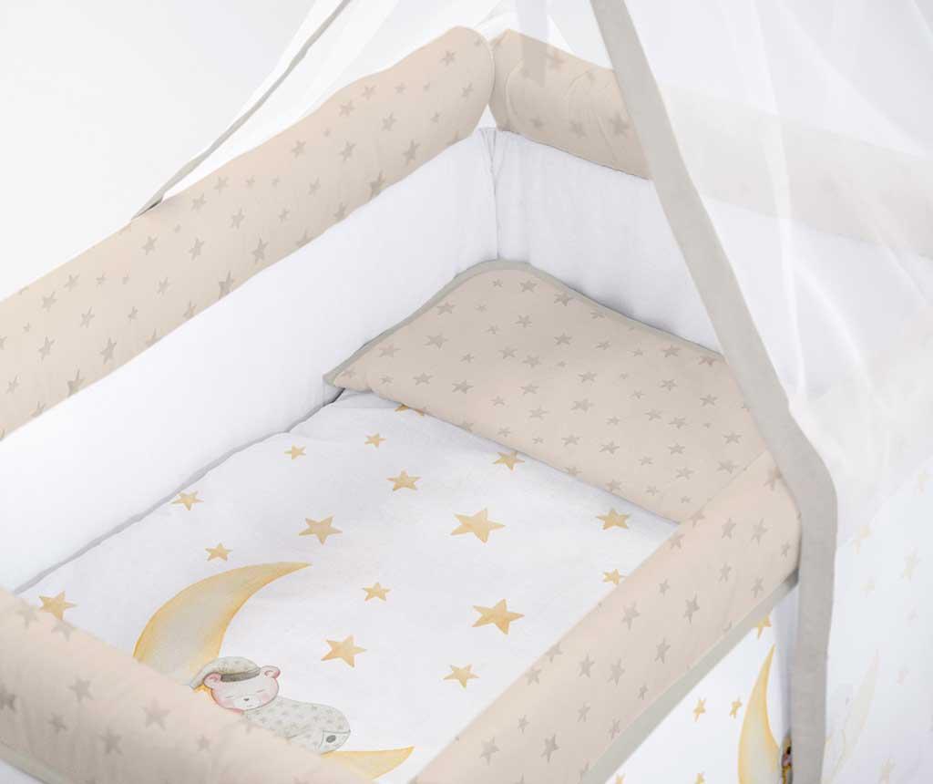 Set krevetić sa baldahinom i dodacima Marlon Night Beige