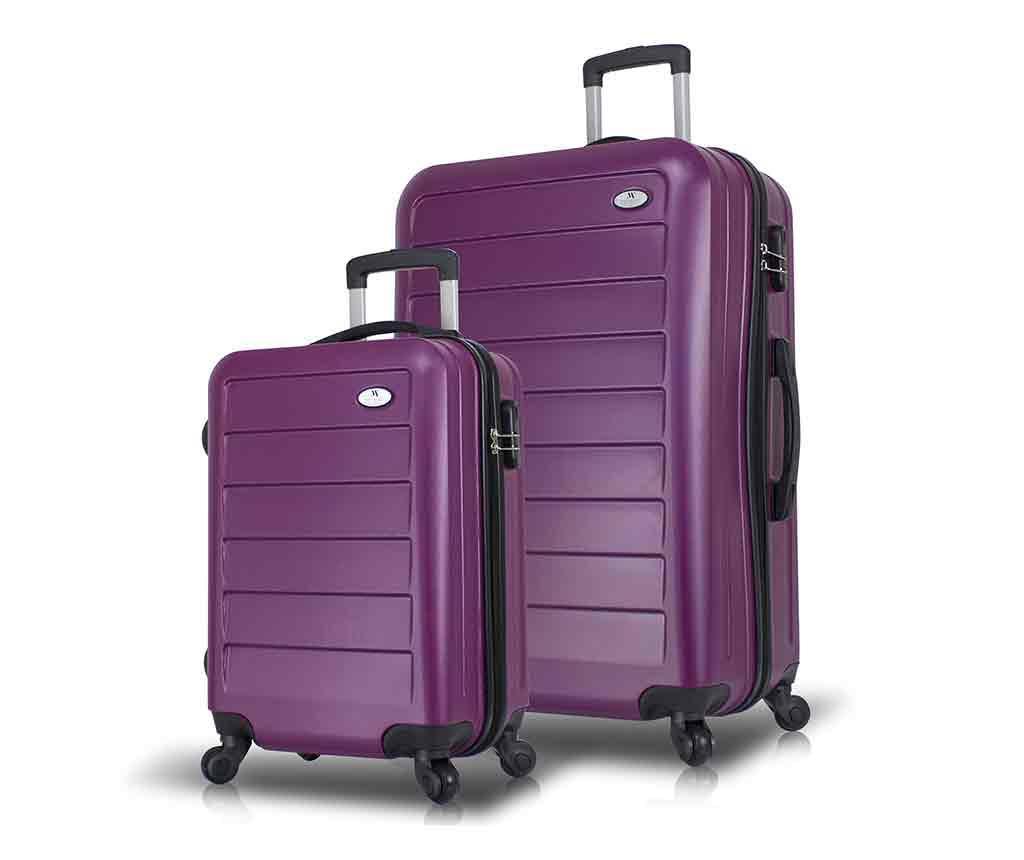 Sada 2 kolieskových kufrov Iuki Plum