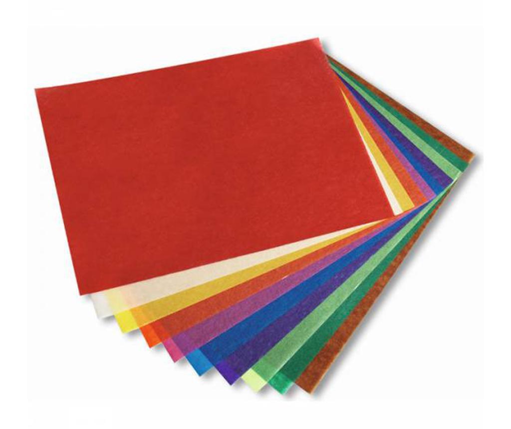 Set 10 prozornih listov papirja Colors
