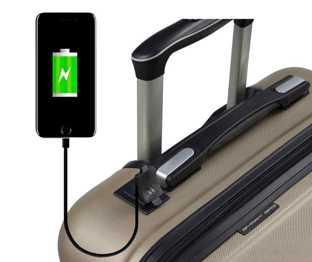 USB Alden Gold Gurulós bőrönd