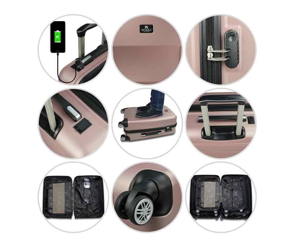 USB Alden Anthracite Gurulós bőrönd