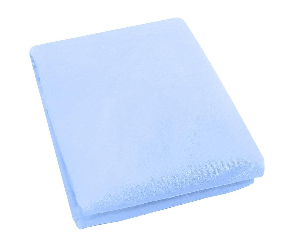 Plahta za krevetić s elastičnom gumicom Rosa Fitty Blue 65x128 cm