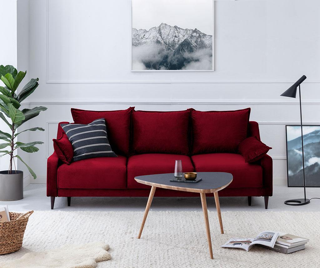 Canapea extensibila 3 locuri Freesia Red
