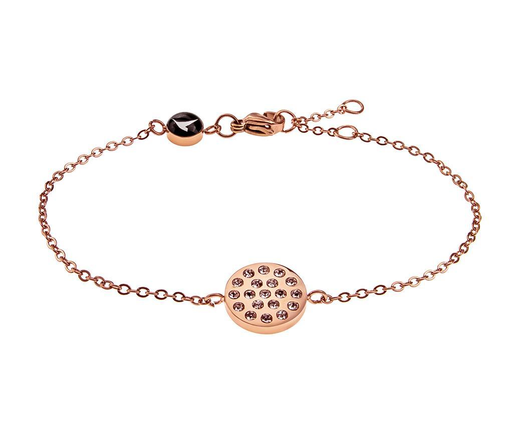 Bratara Inlaid Circle Rose Gold